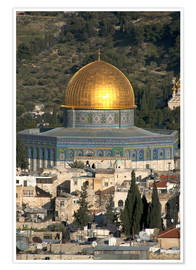 Premium poster  Jerusalem and the Dome of the Rock - David Noyes