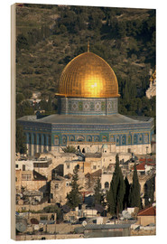 Hout print  Jerusalem and the Dome of the Rock - David Noyes