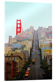 Acrylglas print  San Francisco and Golden Gate Bridgee - John Morris
