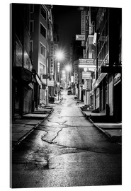 Acrylglas print  a dusky street at night in Istanbul - Turkey - gn fotografie