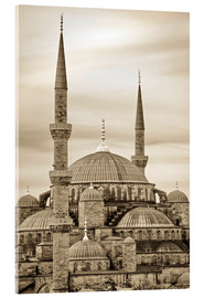 Acrylglas print  the blue mosque in sepia (Istanbul - Turkey) - gn fotografie