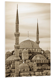 PVC print  the blue mosque in sepia (Istanbul - Turkey) - gn fotografie