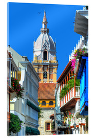 Acrylglas print  Church in Cartagena, Colombia - HADYPHOTO
