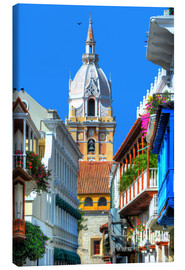 Canvas print  Church in Cartagena, Colombia - HADYPHOTO