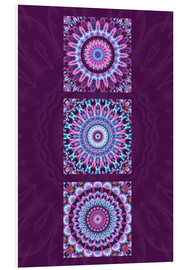 PVC print  Mandala Collage purple - Christine Bässler
