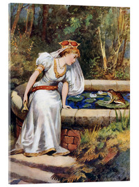 Acrylglas print  The Frog Prince - William Henry Margetson