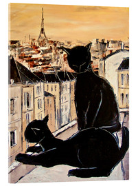 Acrylglas print  Cats love over the rooftops of Paris - JIEL