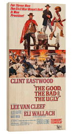 Hout print  The Good, the Bad and the Ugly