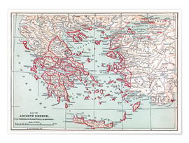 Premium poster  Map of Ancient Greece