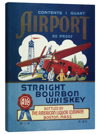 Canvas print  Airport Whiskey Label