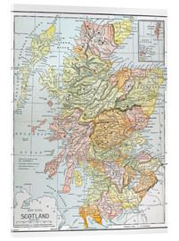 Acrylglas print  Map of Scotland