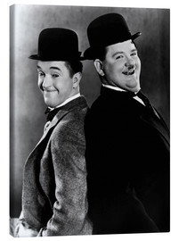 Canvas print  Laurel & Hardy