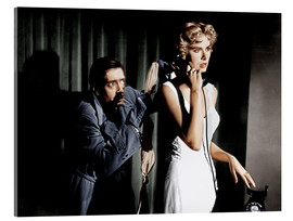 Acrylglas print  Dial M for Murder, from left: Anthony Dawson, Grace Kelly in 1954