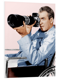 PVC print  REAR WINDOW, James Stewart, 1954