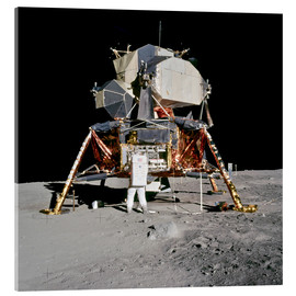 Acrylglas print  Apollo 11 Astronaut and Edwin Aldrin on the Moon
