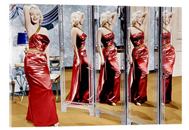 Acrylglas print  Marilyn Monroe in front of mirrors
