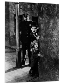 PVC print  Tom Wilson, Charles Chaplin and Jackie Coogan in The Kid