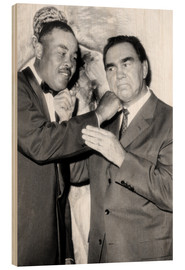 Hout print  Max Schmeling and Joe Louis