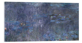 Acrylglas print  Water Lilies, Reflection of trees 2 - Claude Monet