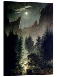 Acrylglas print  Uttewalder basic - Caspar David Friedrich