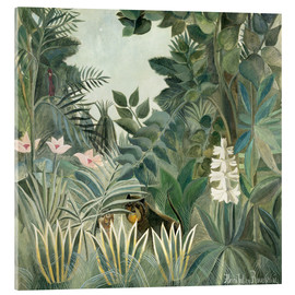 Acrylglas print  The Equatorial Jungle - Henri Rousseau