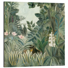 Aluminium print  The Equatorial Jungle - Henri Rousseau