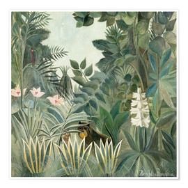 Premium poster  The Equatorial Jungle - Henri Rousseau