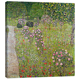 Canvas print  Orchard with roses - Gustav Klimt
