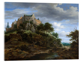 Acrylglas print  The castle Bentheim - Jacob Isaacksz van Ruisdael