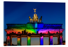Acrylglas print  Berlin skyline at the Brandenburg Gate - Frank Herrmann