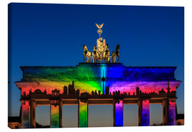 Canvas print  Berlin skyline at the Brandenburg Gate - Frank Herrmann