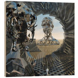 Hout print  Mirror of Time - diuno