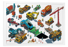 PVC print  Construction machines - Helmut Kollars