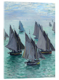 Acrylglas print  Fishing boats in calm weather - Claude Monet