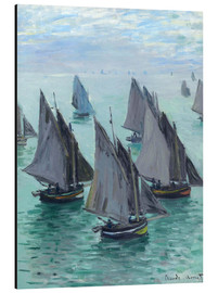 Aluminium print  Fishing boats in calm weather - Claude Monet