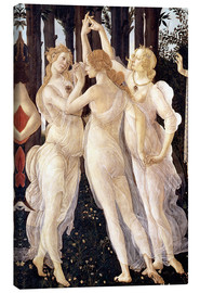 Canvas print  The Three Graces - Sandro Botticelli