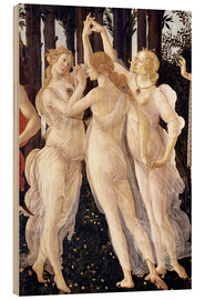Hout print  The Three Graces - Sandro Botticelli