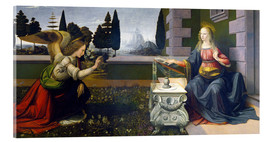 Acrylglas print  The Annunciation - Leonardo da Vinci