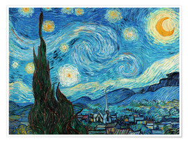 Premium poster  De sterrennacht - Vincent van Gogh
