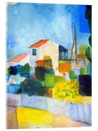 Acrylglas print  The bright house (first version) - August Macke