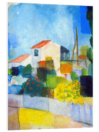 PVC print  The bright house (first version) - August Macke