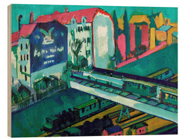 Hout print  Tram and railway - Ernst Ludwig Kirchner