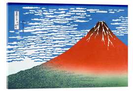 Acrylglas print  Fine Wind, Clear Morning (Red Fuji) - Katsushika Hokusai