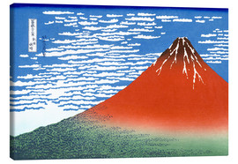 Canvas print  Fine Wind, Clear Morning (Red Fuji) - Katsushika Hokusai