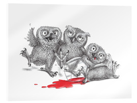 Acrylglas print  Party - Tipsy Owls - Stefan Kahlhammer