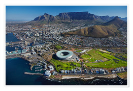 Premium poster  Cape Town Stadium and Table Mountain - David Wall