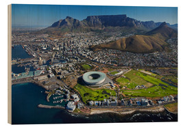 Hout print  Cape Town Stadium and Table Mountain - David Wall