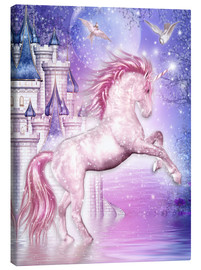 Canvas print  Pink Magic Unicorn - Dolphins DreamDesign