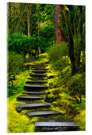 Acrylglas print  Stairs in the Japanese garden - Michel Hersen