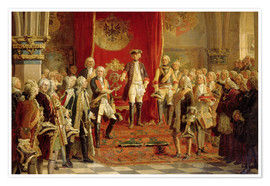 Premium poster  The Silesian estates homage to Frederick the Great in Wroclaw - Wilhelm Camphausen